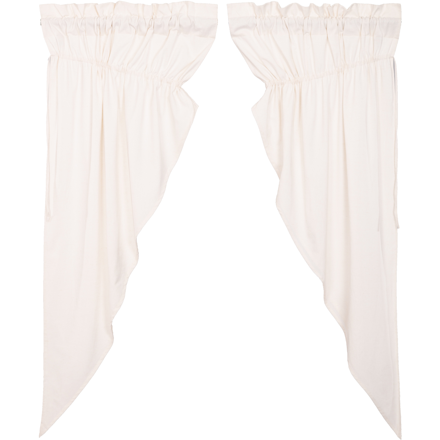 Simple Life Flax Antique White Prairie Short Panel Set of 2 63x36x18
