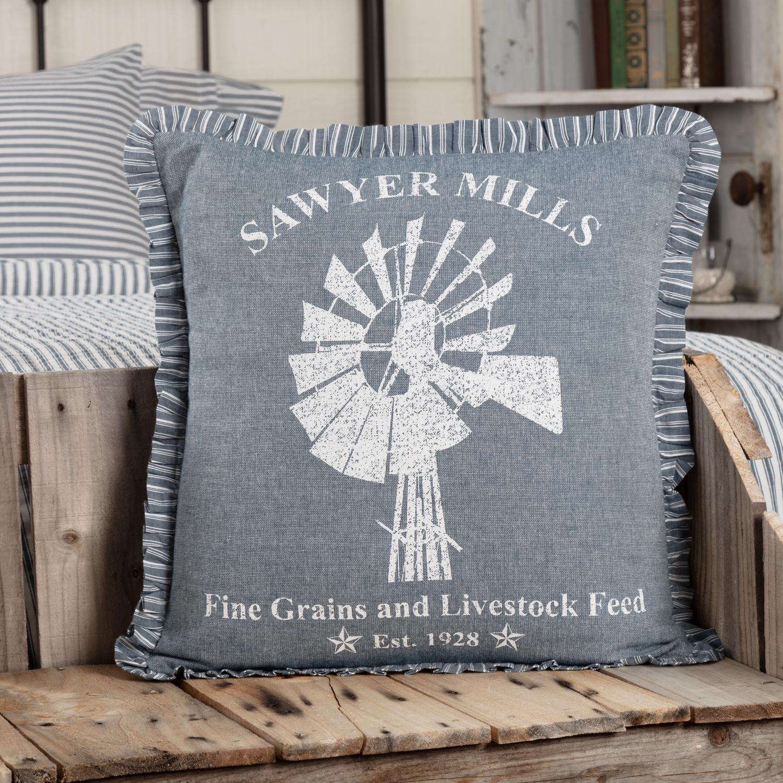 Sawyer Mill Blue Windmill Pillow 18x18