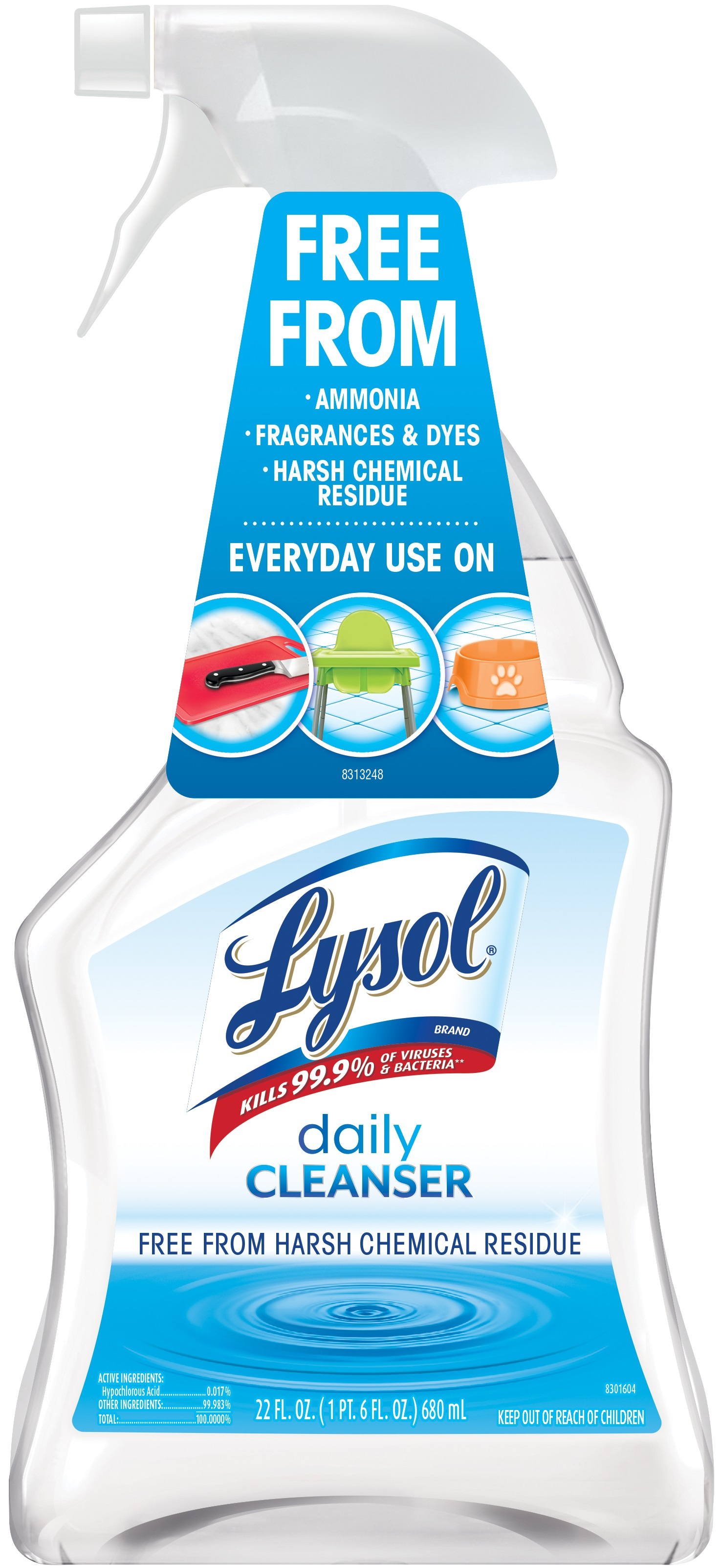 Lysol Daily Cleanser Spray, 22oz, All Purpose Cleaner