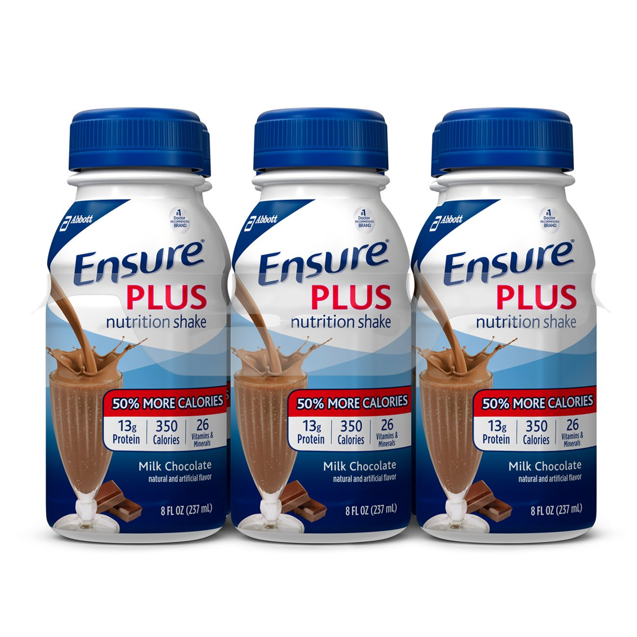 Ensure Plus Milk Chocolate Flavor 8 oz. Bottle Ready to Use, 57266 - Pack of 6