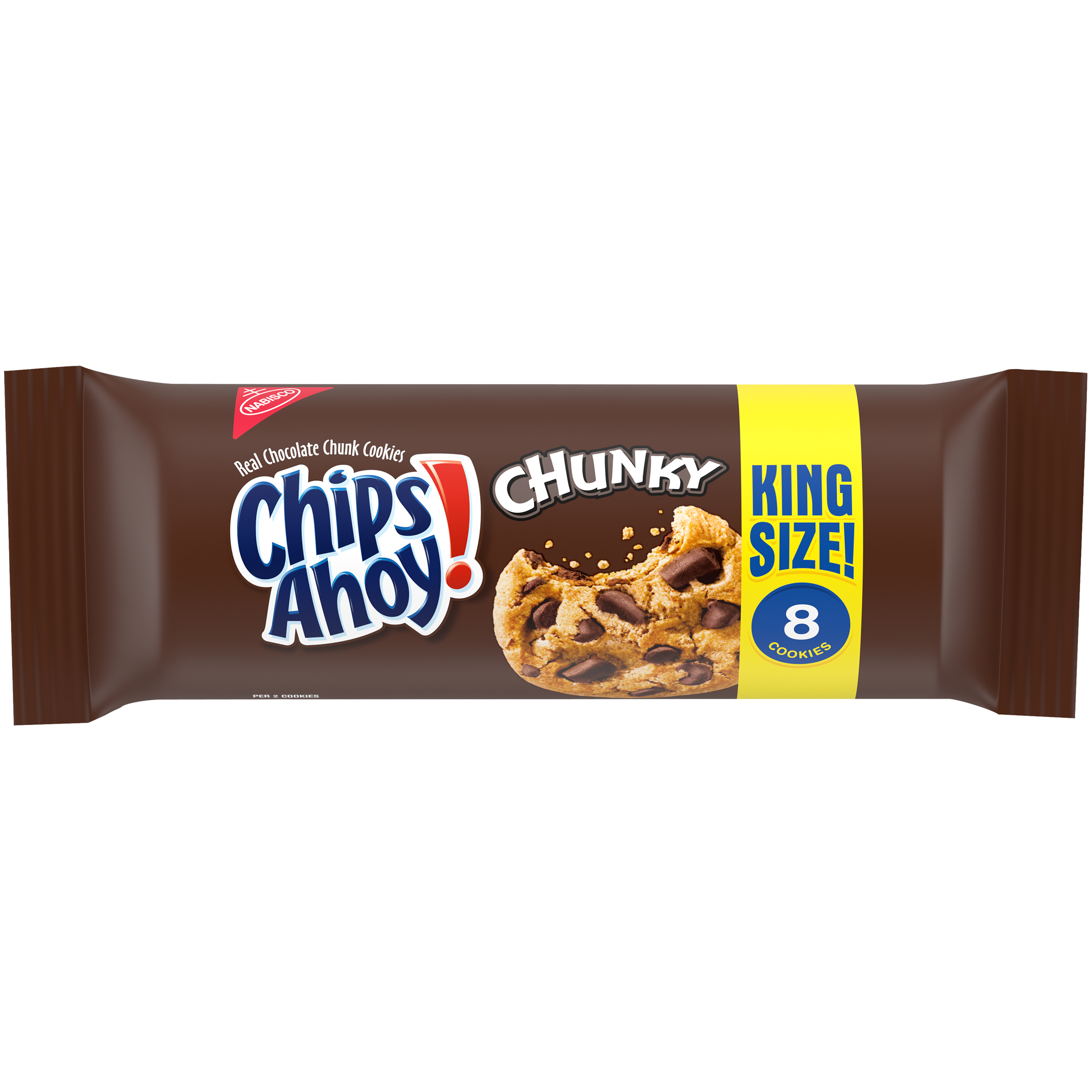 CHIPS AHOY! Chunky Chocolate Chip Cookies, King Size (4.15oz)