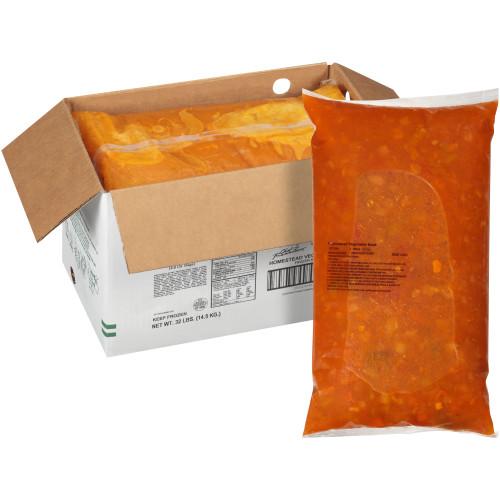HEINZ CHEF FRANCISCO Homestead Vegetable & Beef Soup, 8 lb. Bag (Pack of 4)