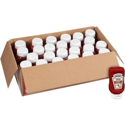 SIMPLY HEINZ Ketchup Inverted Bottle, 13 Oz. Bottles (Pack Of 24)