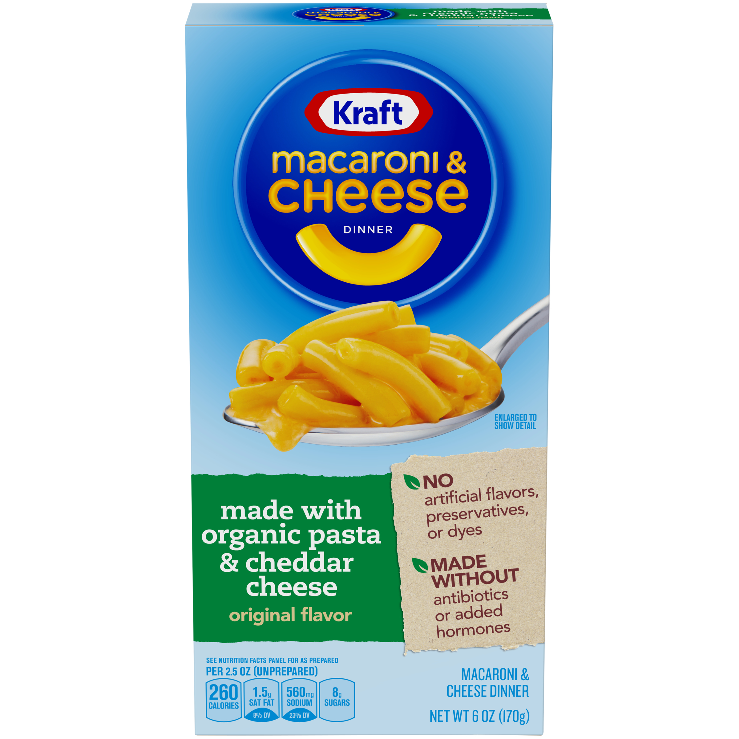 Kraft Original Flavor Macaroni & Cheese Dinner made with ...