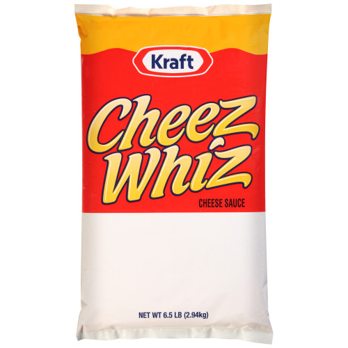 CHEEZ WHIZ Cheese Sauce, 6.5 lb. Pouch (Pack of 6)