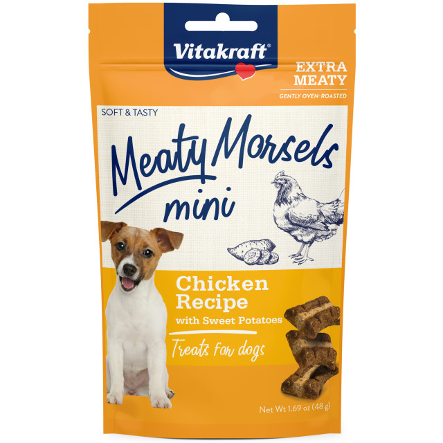 Product-Image showing Meaty Morsels Mini Chicken Recipe with Sweet Potato