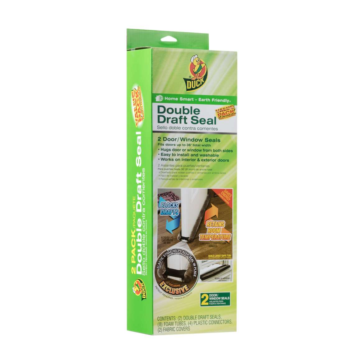 Duck® Brand Double Draft Seal - Brown, 2 pk, Fits up to 34 in. wide Image