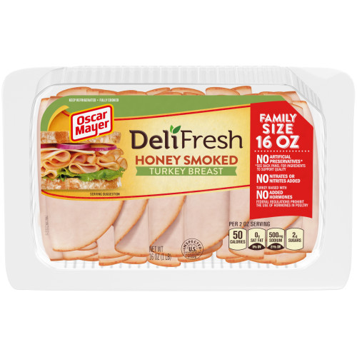 Oscar Mayer Deli Fresh Honey Smoked Turkey Breast Tray, 16 oz