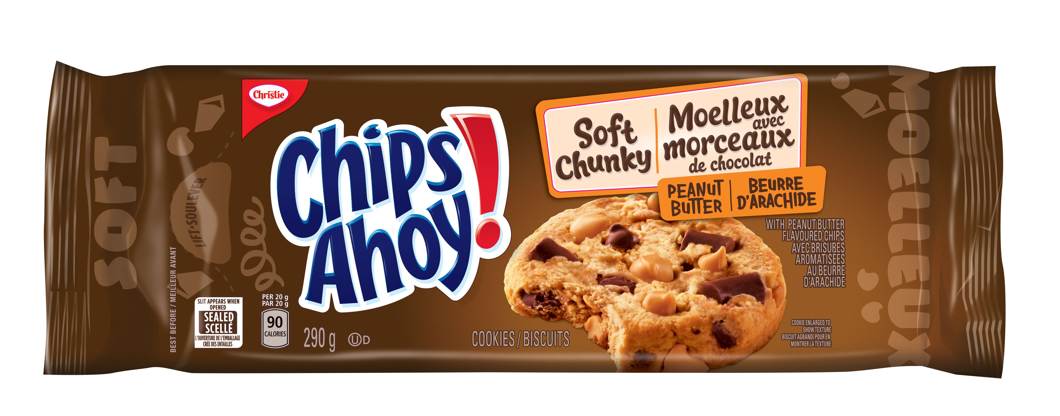 CHIPS AHOY! Soft Chunky BEURRE DARACHIDE 290 GRM