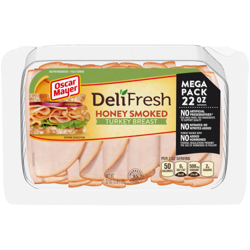 OSCAR MAYER Deli Fresh Honey Smoked Turkey Breast 22 oz