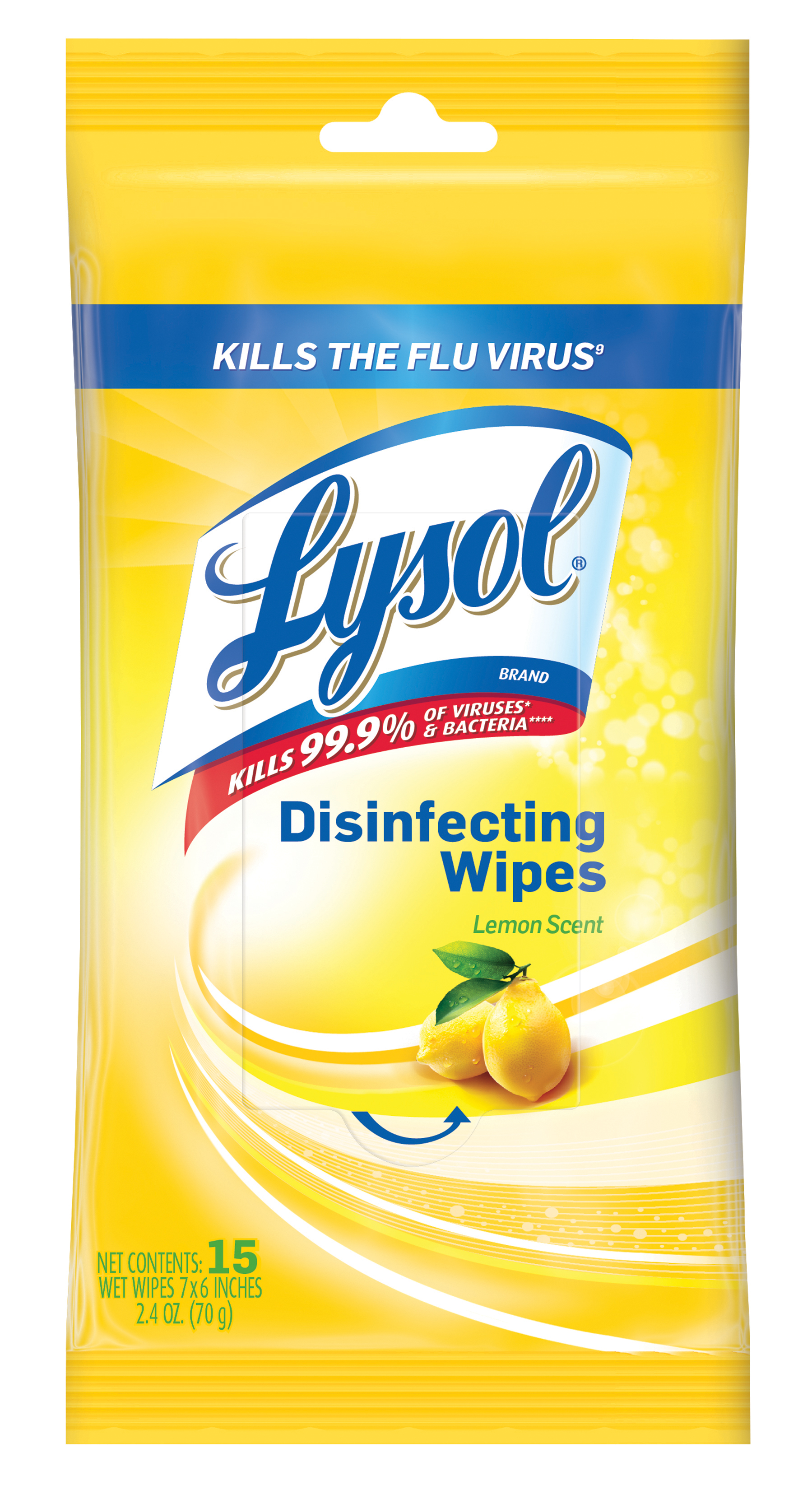 Lysol Disinfecting Wipes, Lemon & Lime Blossom, 15ct