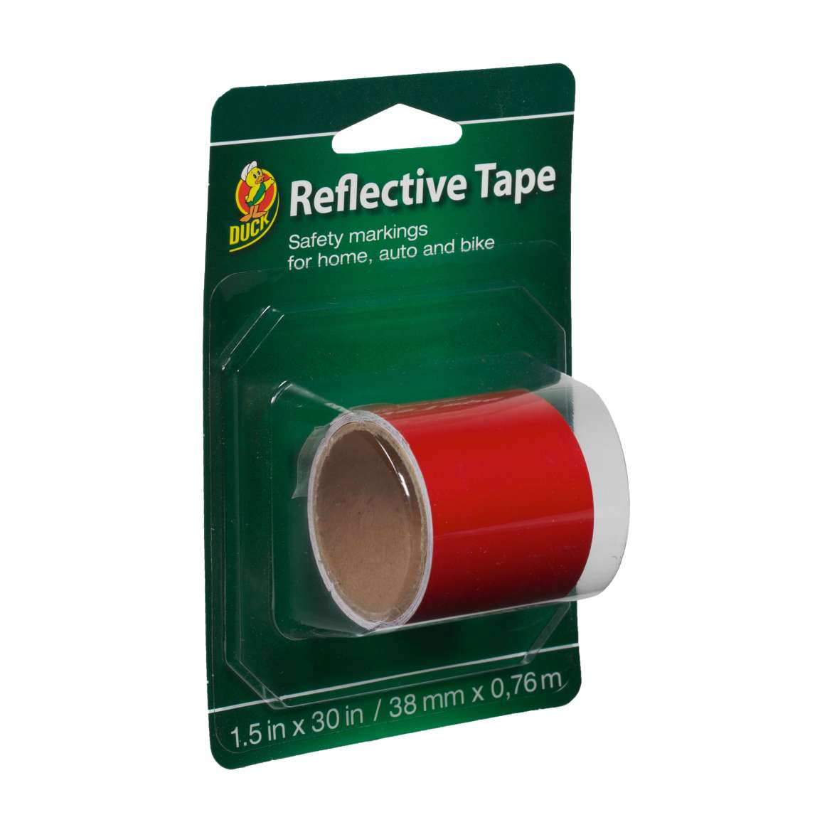 Duck® Brand Reflective Tape - Red, 1.5 in. x 30 in. Image