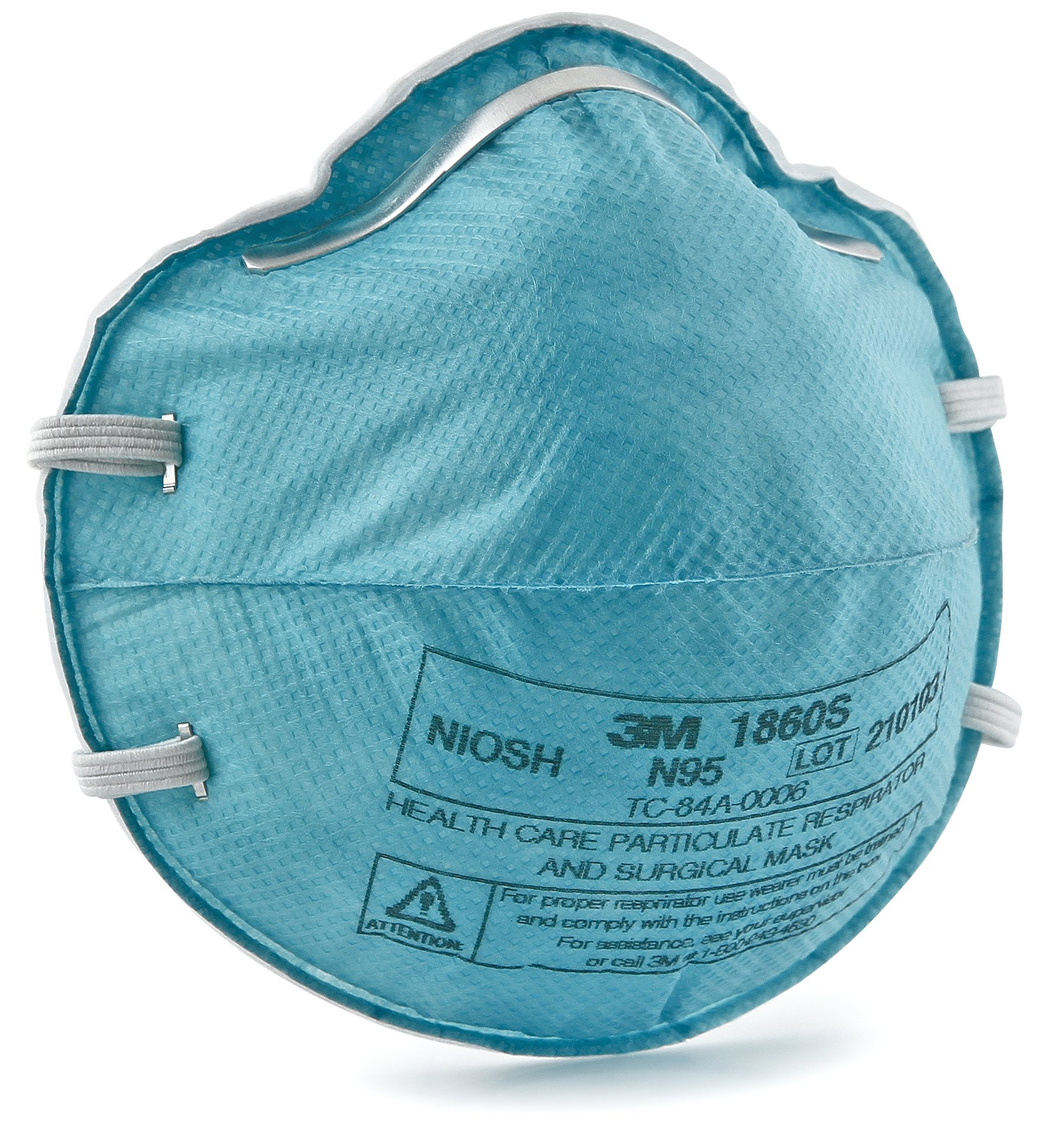 3M Particulate Respirator / Surgical Mask N95 Cup Earloops Small Blue, 1860S - Pack of 20