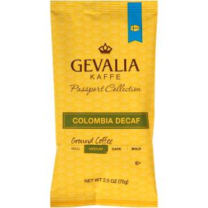 GEVALIA Colombian Roast & Ground Decaffeinated Coffee, 2.5 oz. Bag (Pack of 24) image