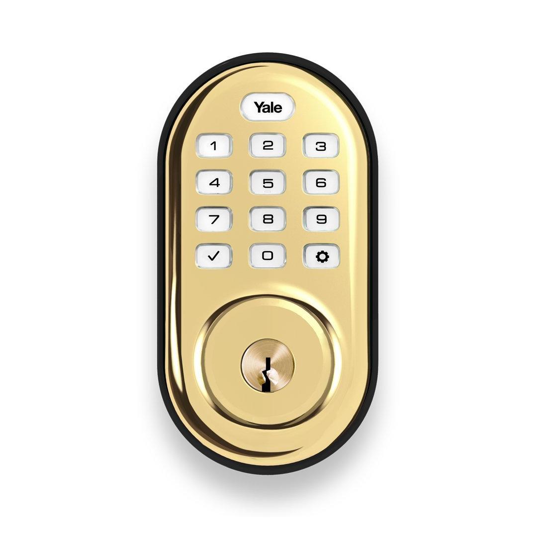 Brass Assure Push Button Deadbolt Wave Electronics