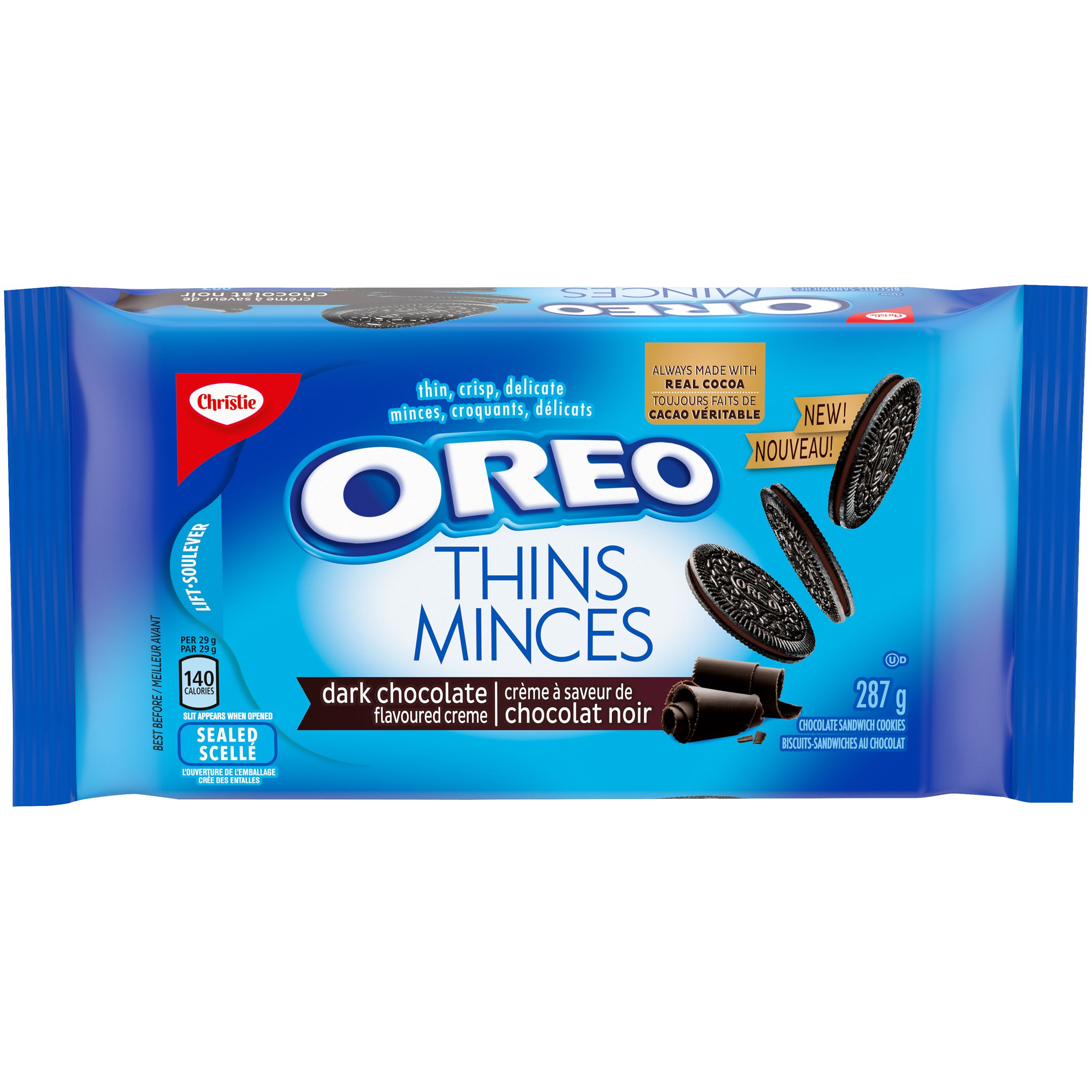Oreo Oreo Thins Dark Sandwich Cookies 287 G