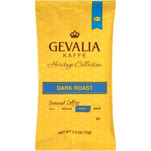 GEVALIA Dark Roast Coffee, 2.5 oz. Bag (Pack of 24) image