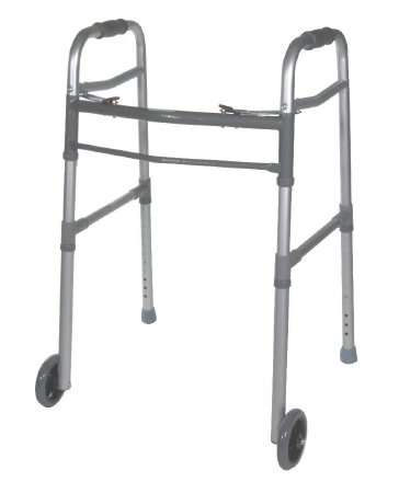 Dual Release Folding Walker drive Aluminum Frame 300 lbs. Weight Capacity 28-3/4 to 38-1/2 Inch Height, Drive 10253-1 - EACH