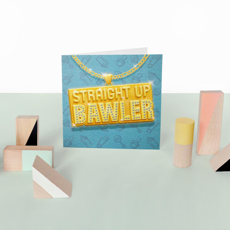 Bawler New Baby Boy Congratulations Greeting Card image