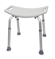 Bath Bench, McKesson, Fixed Handle Aluminum Frame Without Backrest 15-1/2 to 19-1/2 Inch Height, 146-RTL12203KDR - EACH