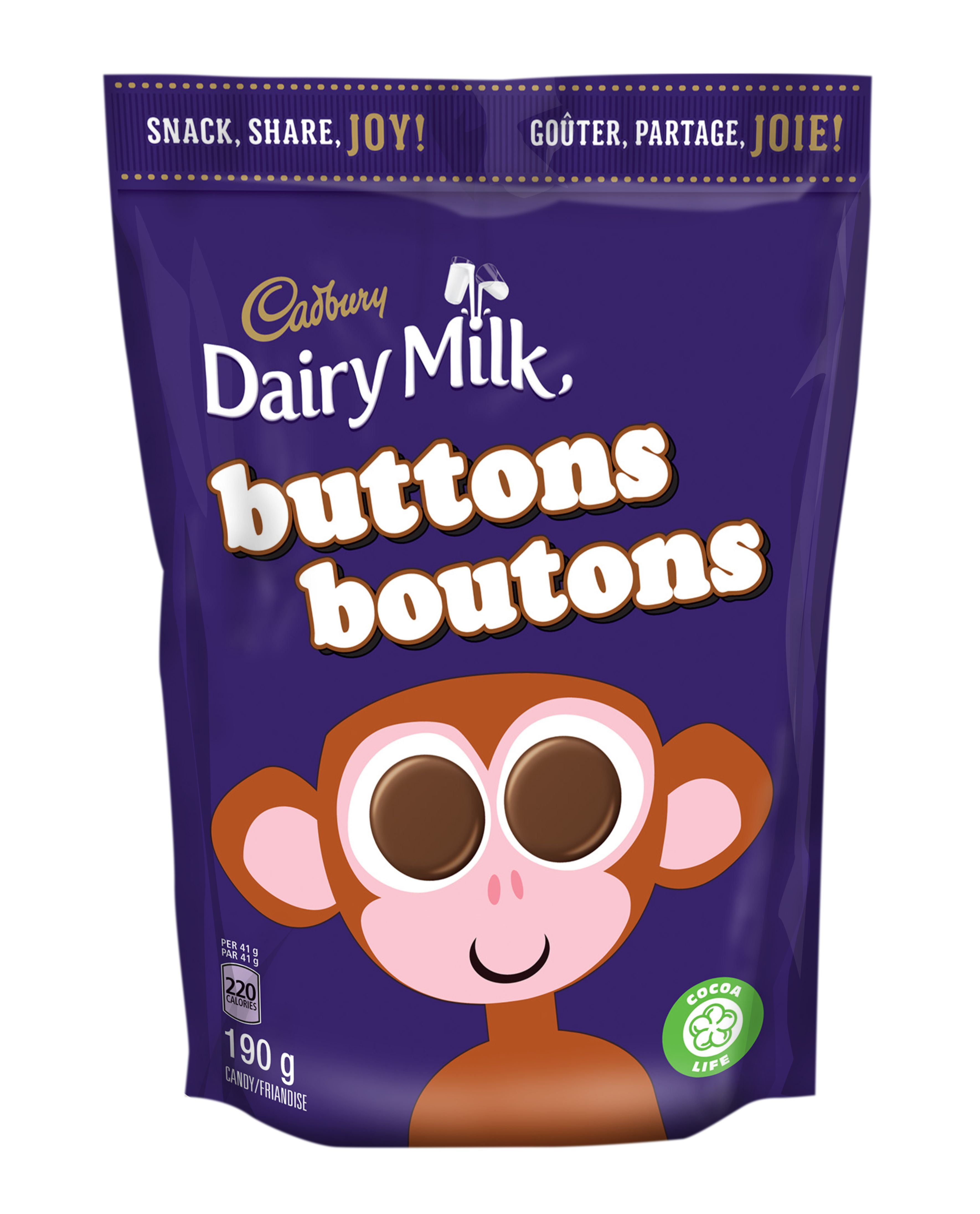 CAD DAIRY MILK BOUTONS 190G