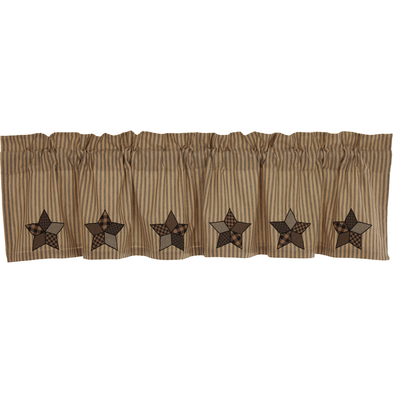 Farmhouse Star Applique Valance 16x72