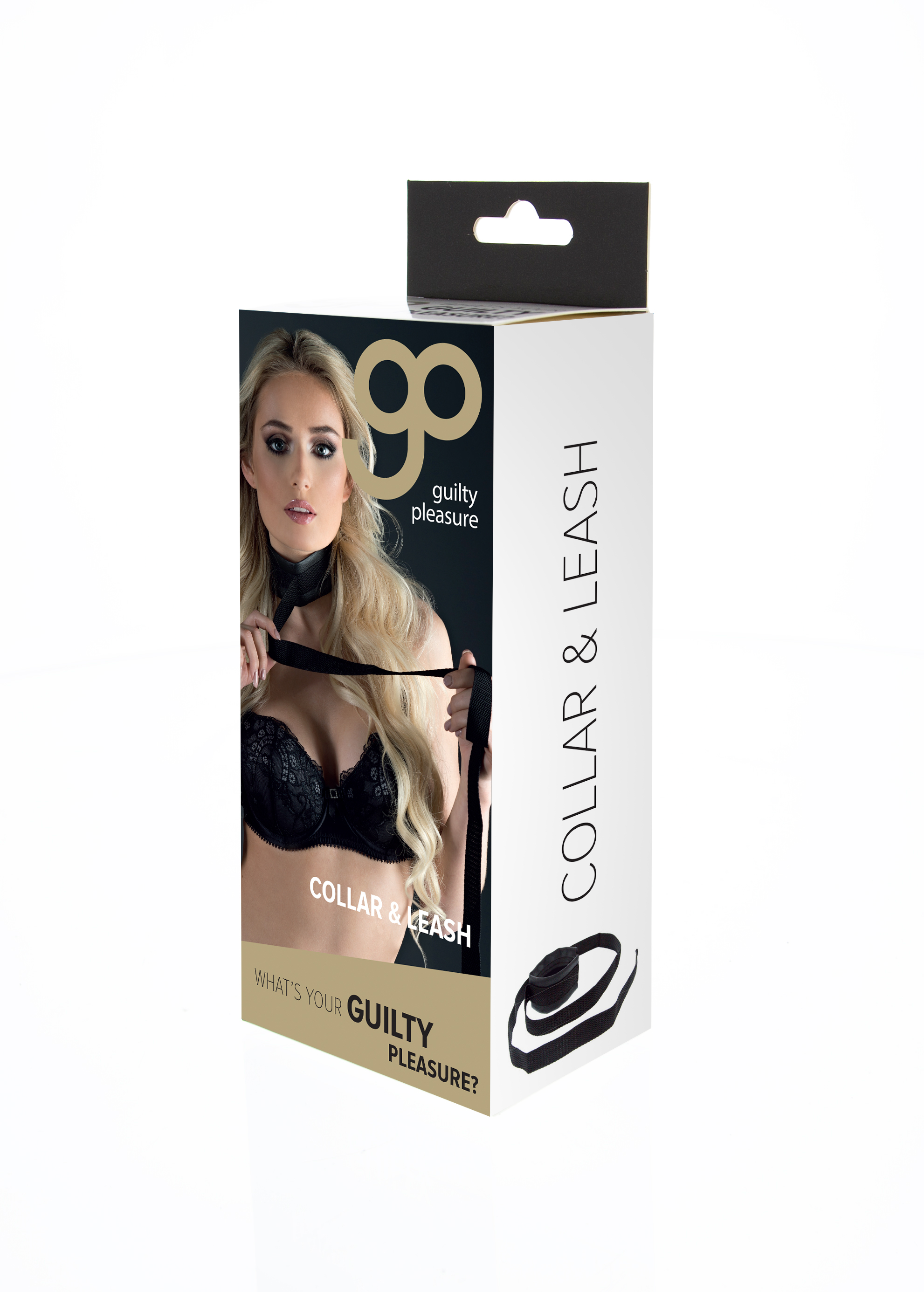 Guilty Pleasure - Collar And Leash - Black
