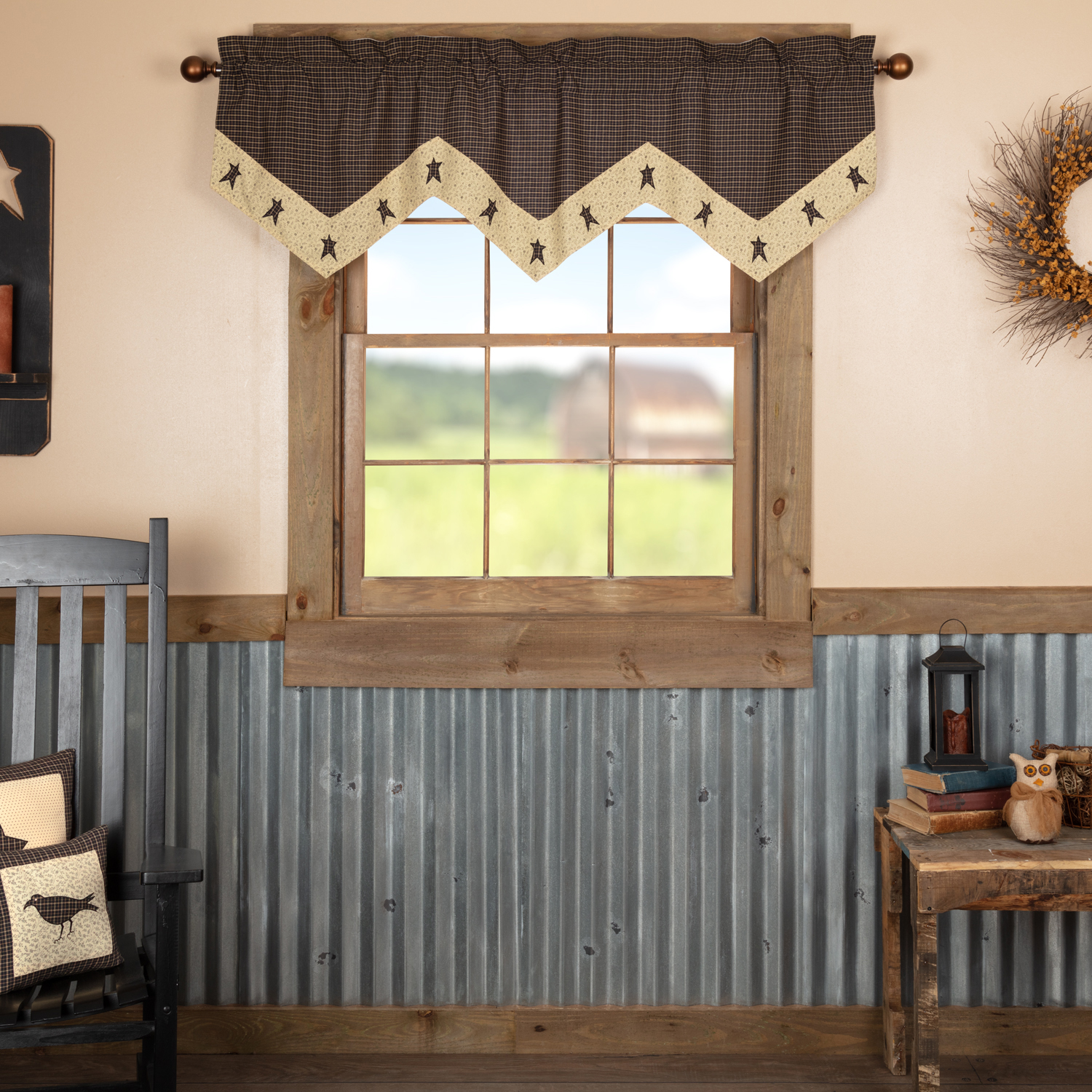 Kettle Grove Star Valance 20x60
