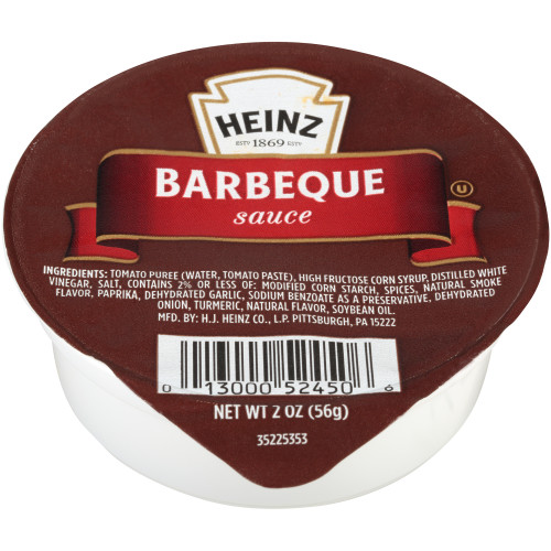 HEINZ Single Serve Barbecue Sauce, 2 oz. Cups (Pack of 60)