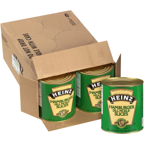 HEINZ Hamburger Cut Dill Pickles #10 Can, 6.9 Lb. (Pack of 6)