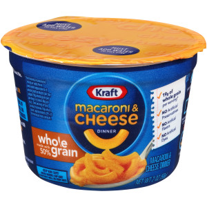 Kraft Whole Grain Easy Mac Cups, 2 oz. image