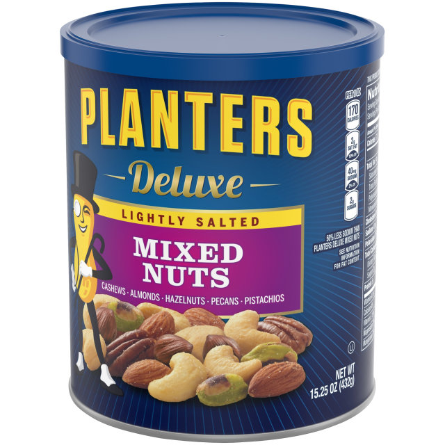 PLANTERS Deluxe Lightly Salted Mixed Nuts 15.25 oz Can
