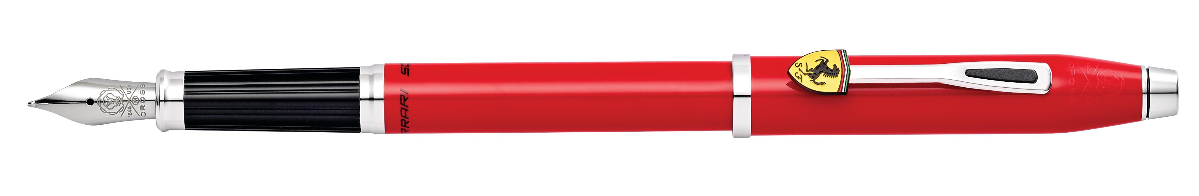 Cross Century II Collection for Scuderia Ferrari Glossy Rosso Corsa Red Lacquer Fountain Pen