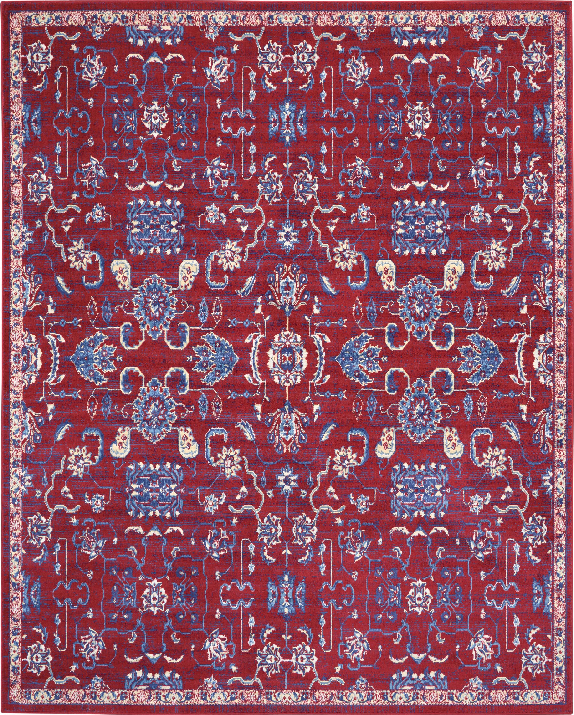 Nourison Grafix 8' X 10' Red Persian Area Rug