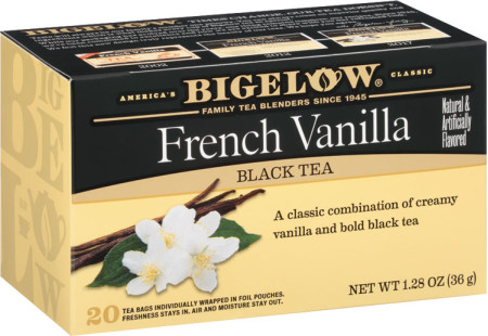 French Vanilla Tea  - Case of 6 boxes - total of 120 teabags
