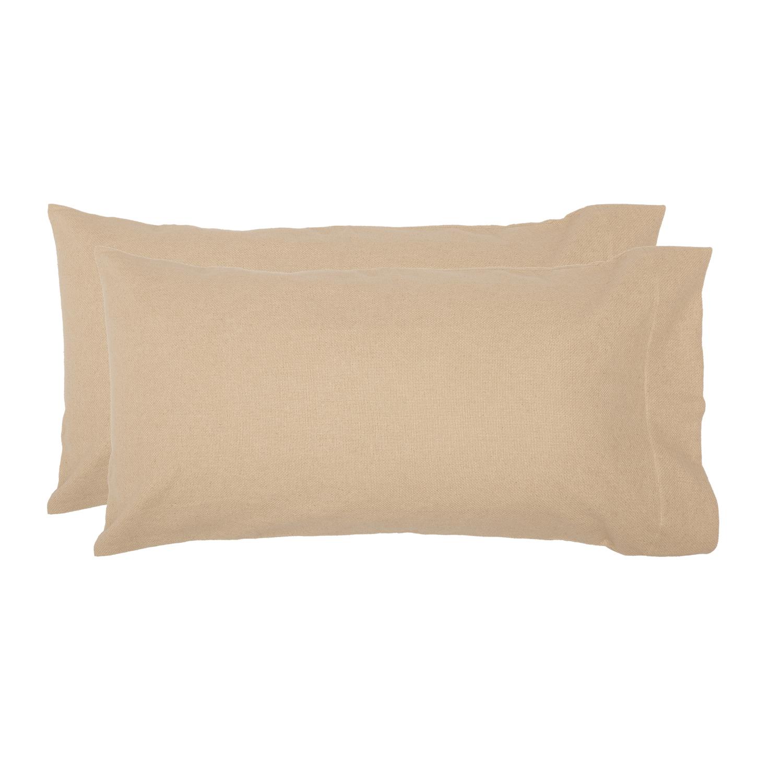 Burlap Vintage King Pillow Case Set of 2 21x40