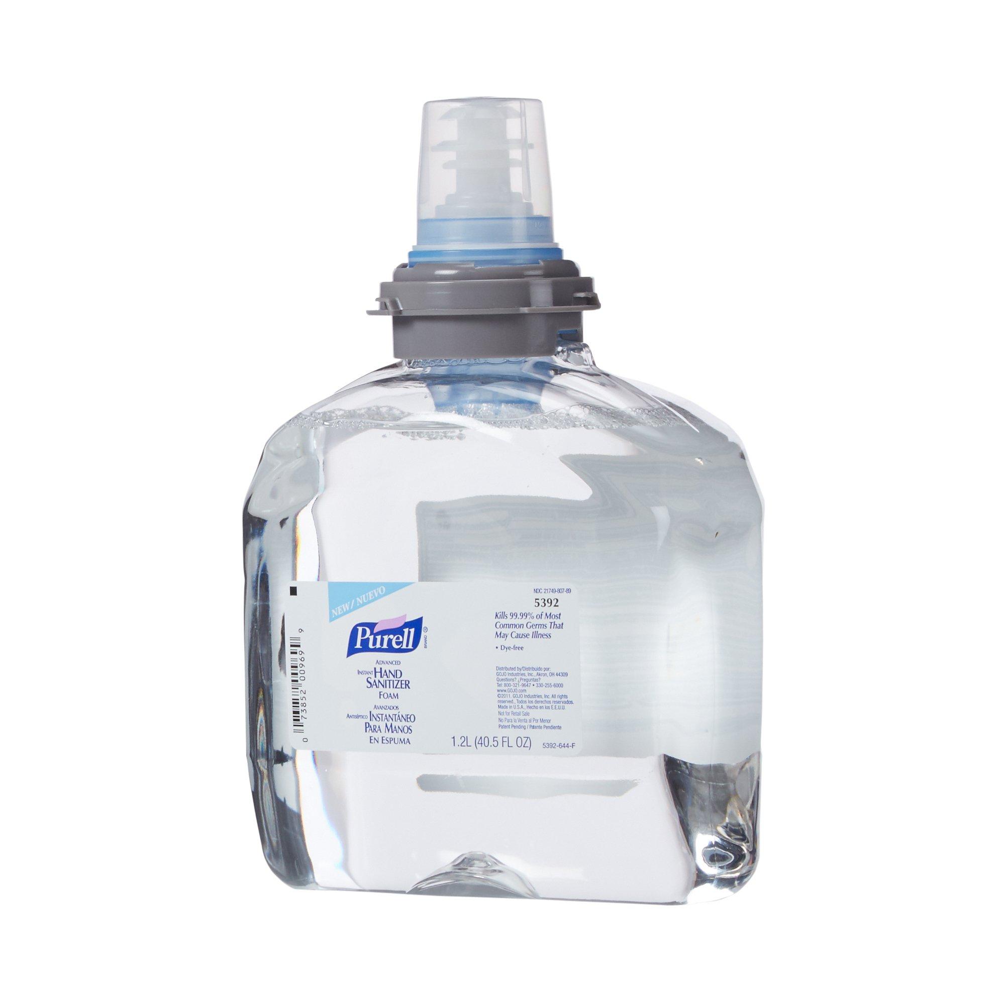 Purell Advanced Hand Sanitizer 1,200 mL Ethyl Alcohol Foaming Dispenser Refill Bottle, 5392-02 - EACH