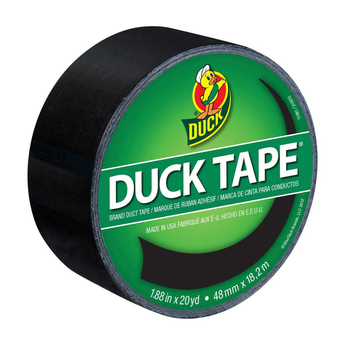 Color Duck Tape® Brand Duct Tape - Black, 1.88 in. x 20 yd. Image