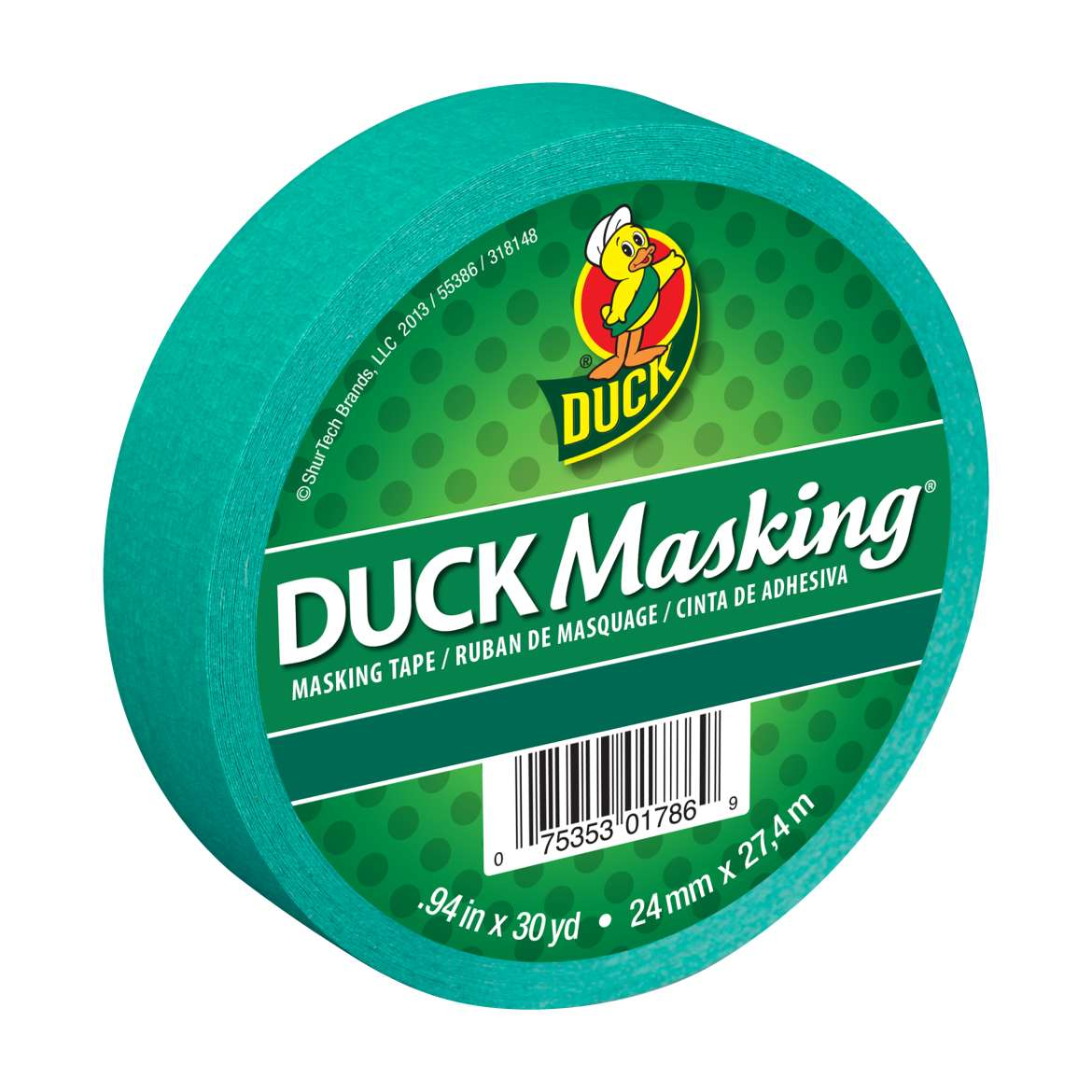 Duck Masking® Color Masking Tape - Green, .94 in. x 30 yd. Image