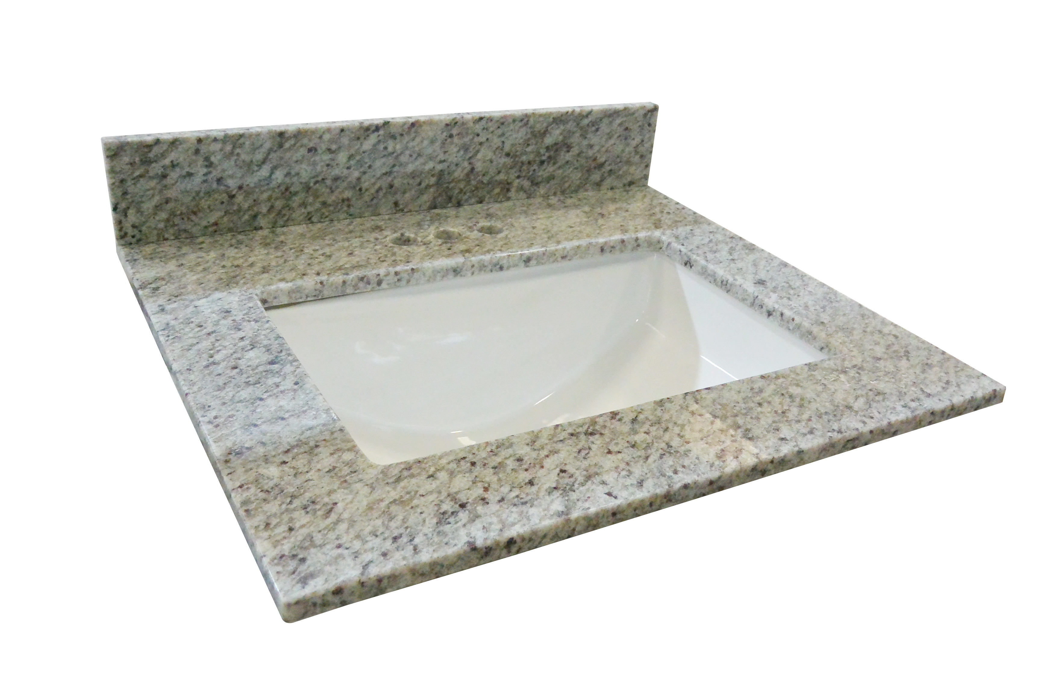 Granite Single Bowl Vanity Top 49x22, Kashmir White #563353