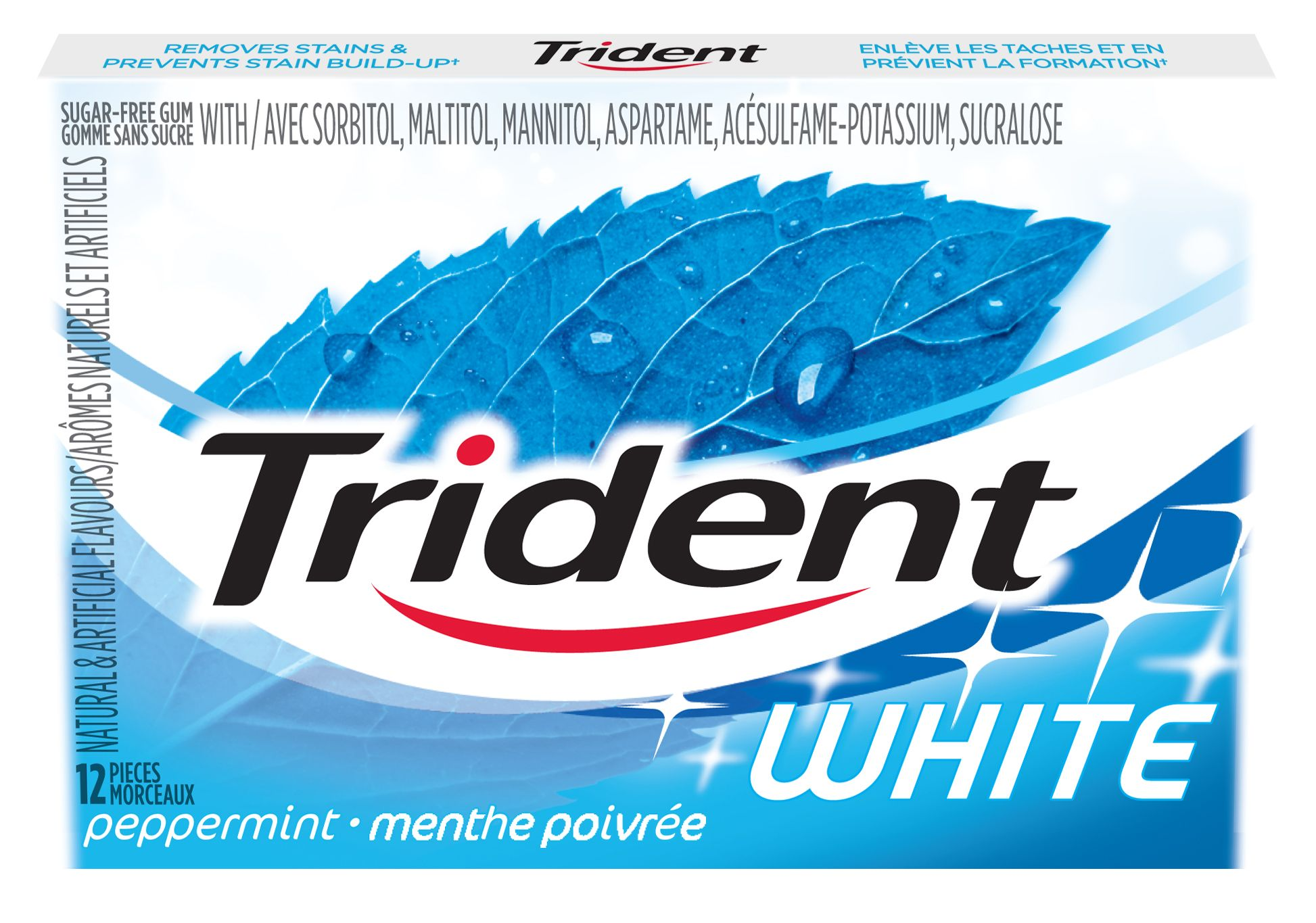 Trident White Peppermint Gum 12 Count