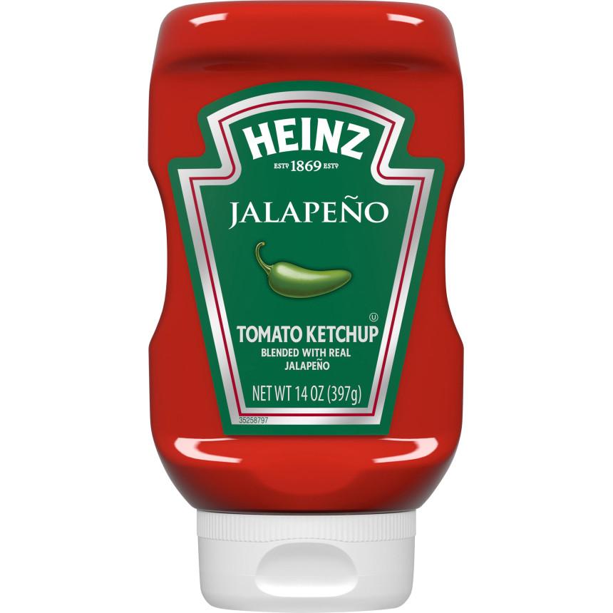 Heinz Jalapeno Tomato Ketchup, 14 oz Bottle image