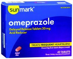 sunmark Antacid 20 mg Strength Tablet 42 per Box, 49348084661 - Pack of 42
