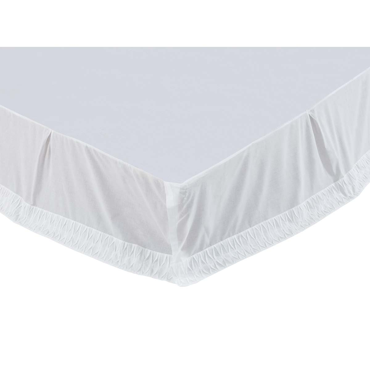 Adelia White Twin Bed Skirt 39x76x16