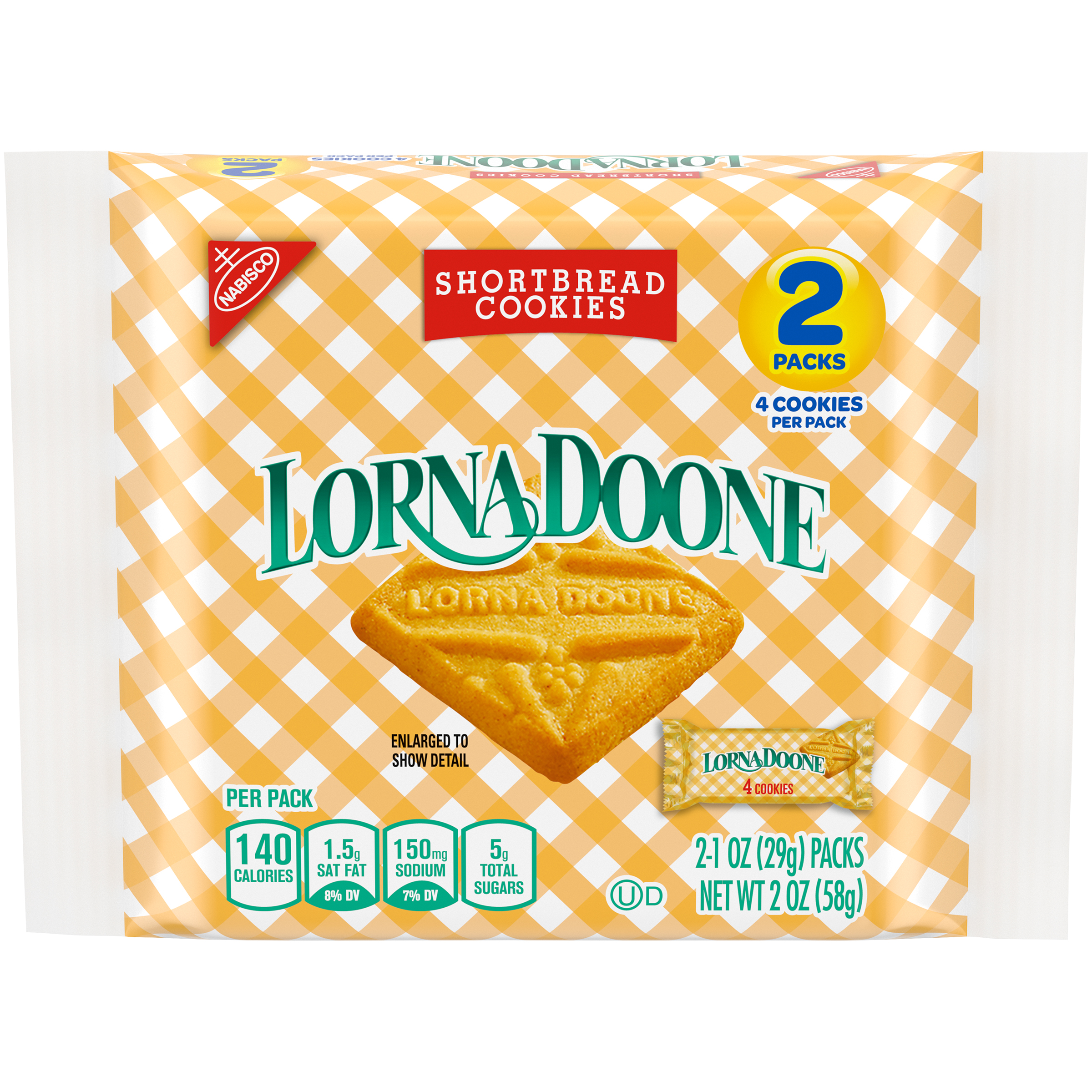 LORNA DOONE Original Cookies 2 oz