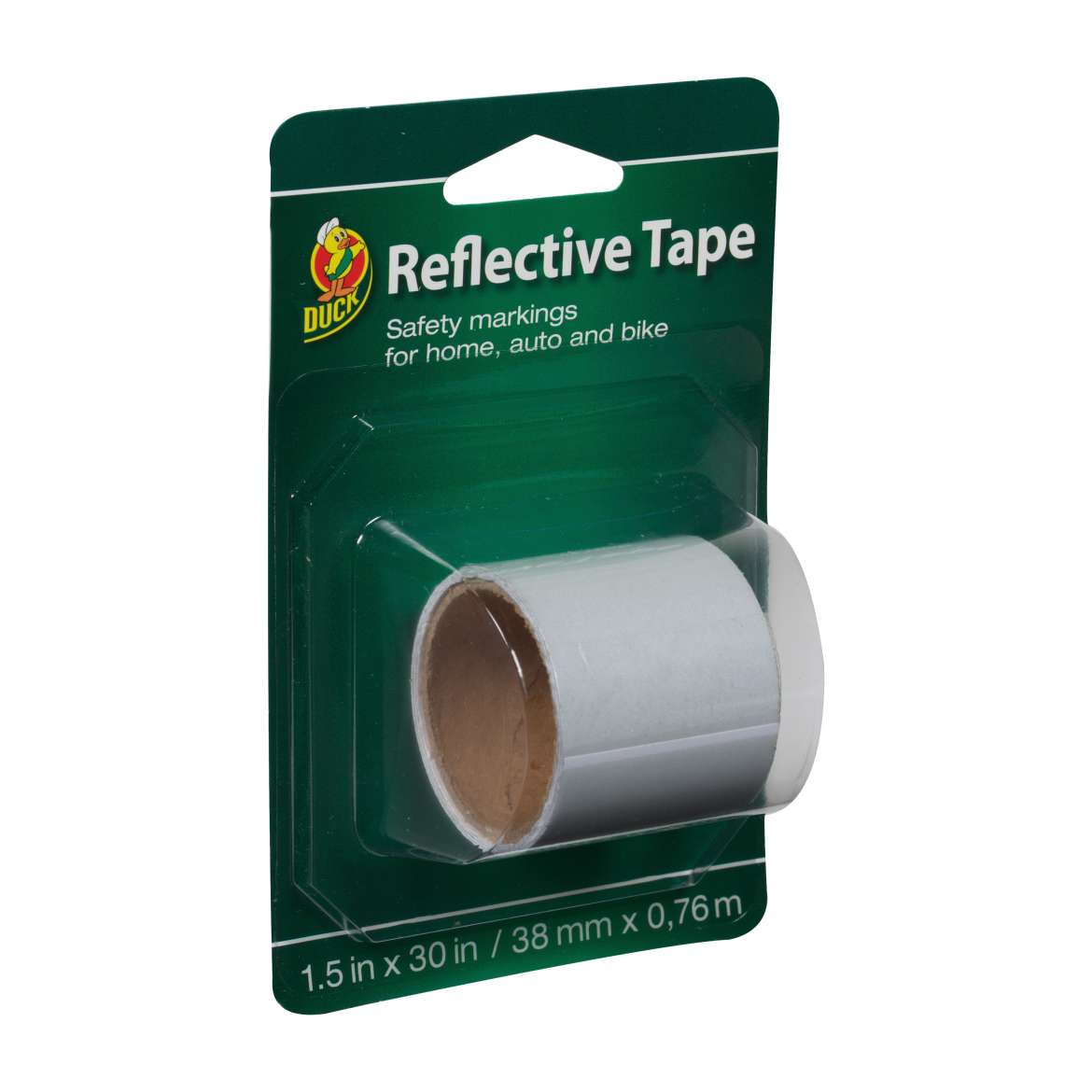Duck® Brand Reflective Tape - White, 1.5 in. x 30 in. Image