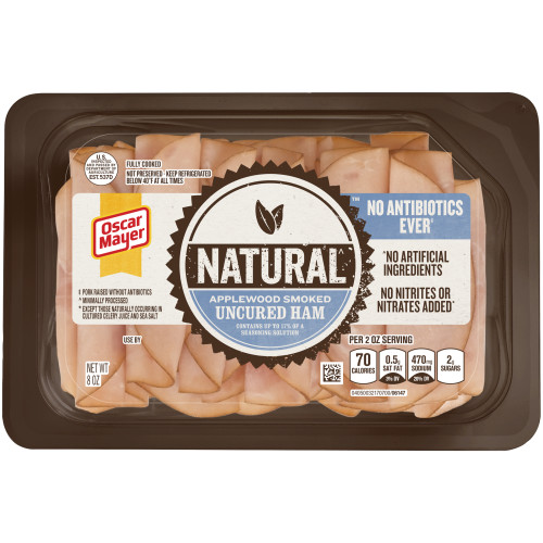 Oscar Mayer Natural Applewood Smoked Uncured Ham Tray, 14 oz