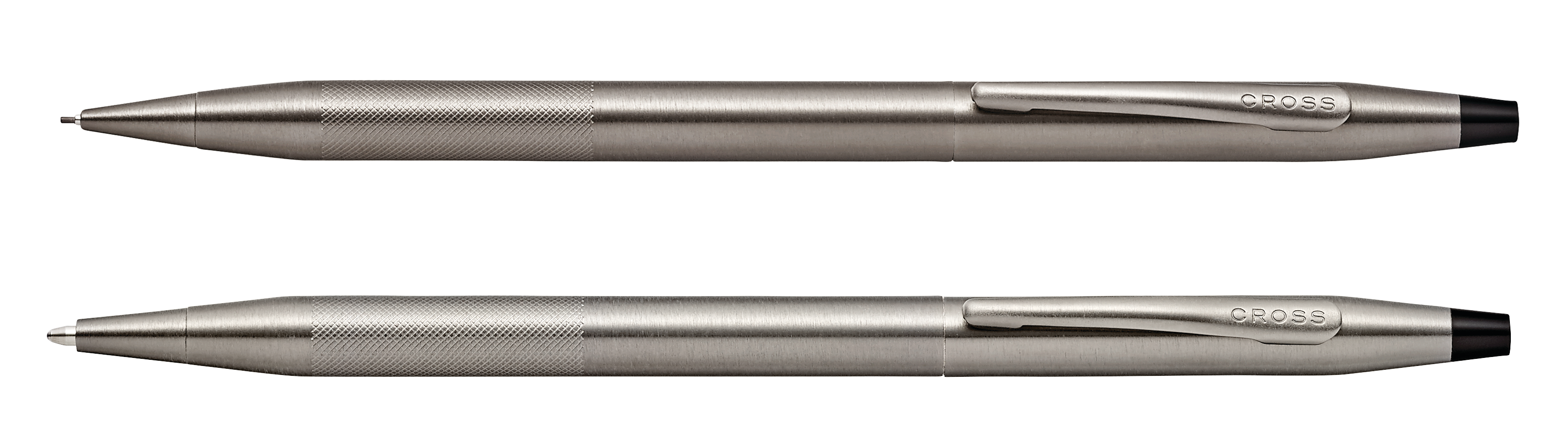 Classic Century Titanium Gray Pen and Pencil Set with Micro-knurl Detail