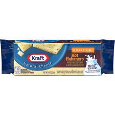Kraft Natural Hot Habanero Cheese Block 8 oz Wrapper