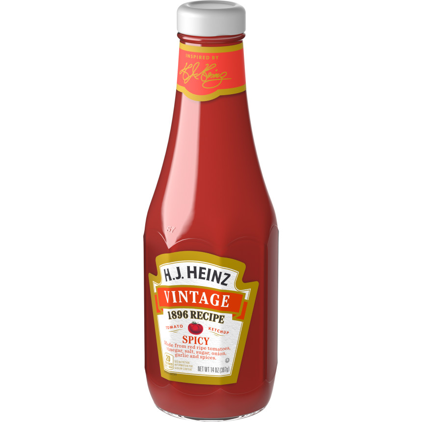 Vintage 1896 Spicy Ketchup (14 oz. glass bottle)